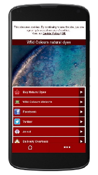 Wild Colours natural dyes on iPhones & Android smartphones