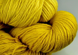 BFL superwash wool dyed with Weld natural dye extract