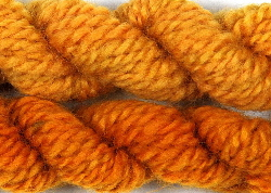 Handspun wool dyed with Coreopsis dye extract