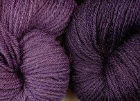 Logwood dyed wool - a blue natural dye