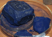 Indigo dye in blocks - natural dyes