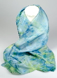 Hand-dyed silk scarves