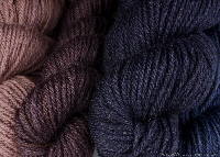 Wool dyed with logwood & iron | Wild Colours natural dyes